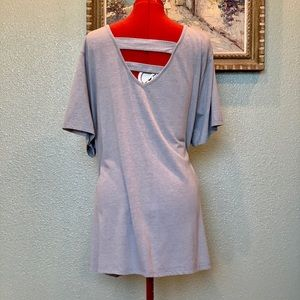 Catherines ladder back gray top in size 26W petite